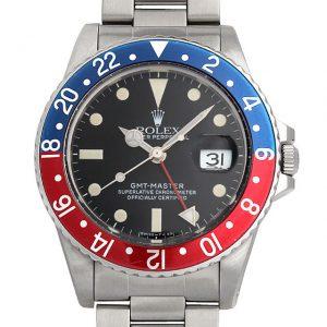 2017年 これから価格高騰しそうな高級腕時計 ロレックス GMTマスター 16750ふちなし