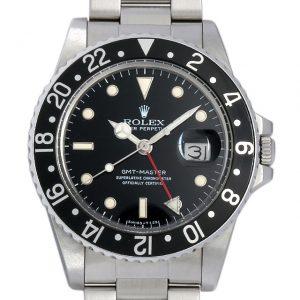 2017年 これから価格高騰しそうな高級腕時計 ロレックス GMTマスター 16750ふちあり