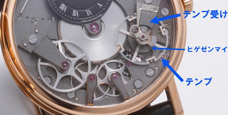 機械式腕時計 テンプ