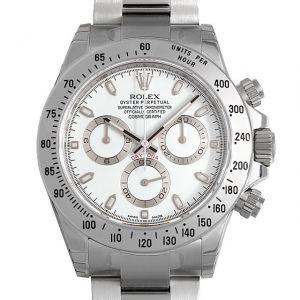 2017年 これから価格高騰しそうな高級腕時計 ロレックス 116520白