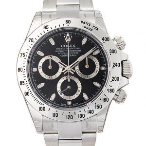 2017年 これから価格高騰しそうな高級腕時計 ロレックス デイトナ 116520黒