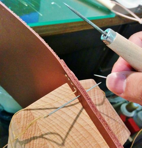 革ベルト 手縫い