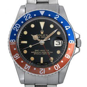 ロレックス GMTマスター 18番 1675 ブラックミラー/小針 エクステンションUSリベットブレス