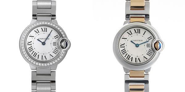 彼女へのクリスマスプレゼント 高級腕時計 カルティエ バロンブルー