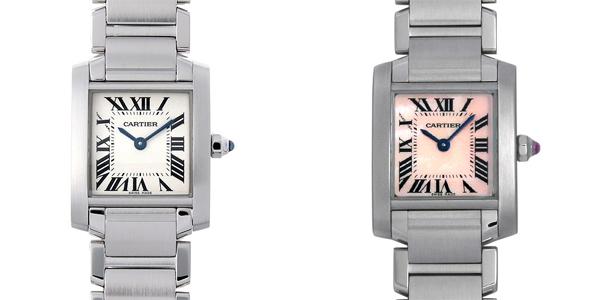 彼女へのクリスマスプレゼント 高級腕時計 カルティエ タンクフランセーズ