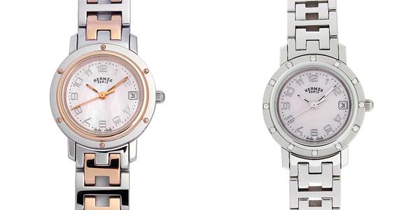 彼女へのクリスマスプレゼント 高級腕時計 エルメス クリッパー