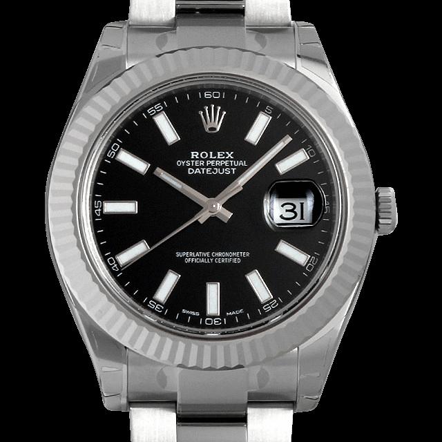 116334 ロレックス デイトジャストII ブラック/Black