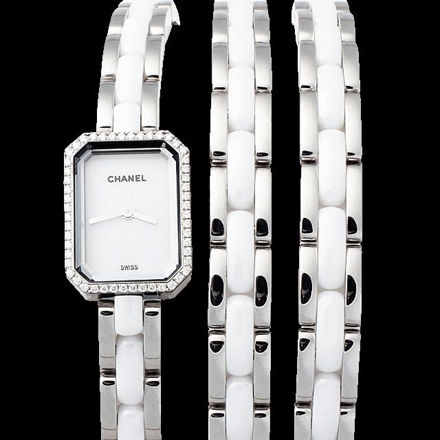 H3059 シャネル プルミエール トリプルブレスレット ベゼルダイヤ ホワイト