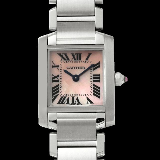 W51028Q3 カルティエ タンクフランセーズ SM ピンクシェル/Pink Shell
