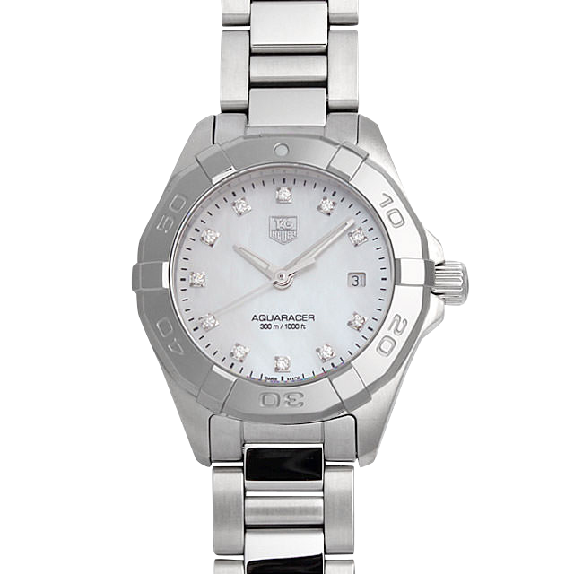 WAY1413.BA0920 タグホイヤー アクアレーサー レディ ダイヤモンド ホワイトシェル/White Shell