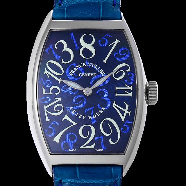 7851CH OG フランクミュラー トノーカーベックス クレイジーアワーズ ブルー/Blue