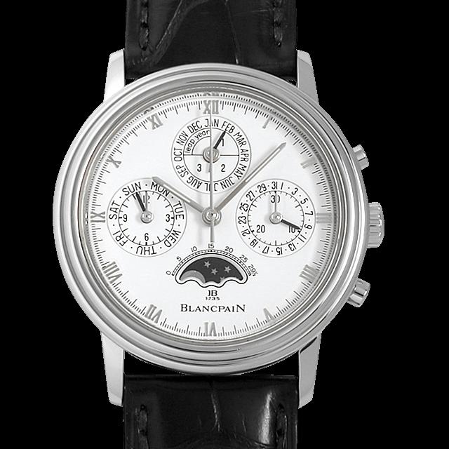 B5580.1127.55.20 ブランパン クラシック パーペチュアルカレンダー クロノグラフ ホワイト/White